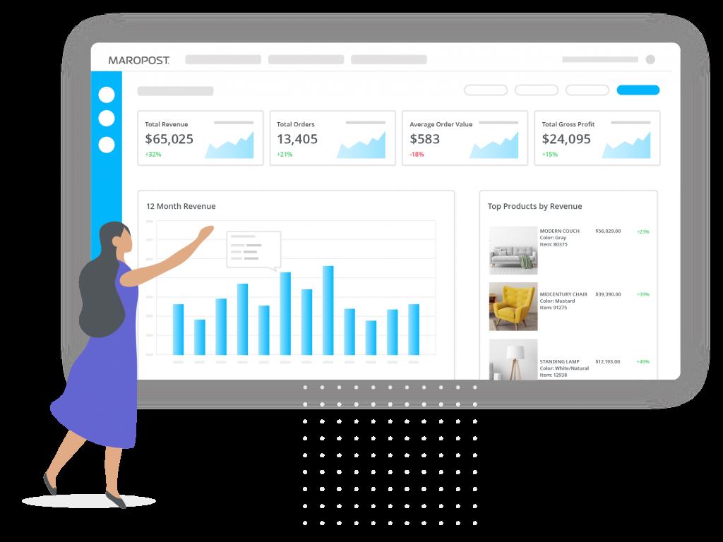 commerce screens analytics